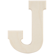 J - Baltic Birch University Font Letters & Numbers 5.25""