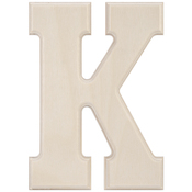 K - Baltic Birch University Font Letters & Numbers 5.25""