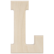 L - Baltic Birch University Font Letters & Numbers 5.25""
