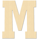 """M - Baltic Birch University Font Letters & Numbers 5.25"""""""