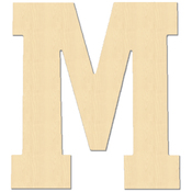 M - Baltic Birch University Font Letters & Numbers 5.25""