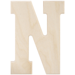 """N - Baltic Birch University Font Letters & Numbers 5.25"""""""