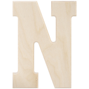 N - Baltic Birch University Font Letters & Numbers 5.25""