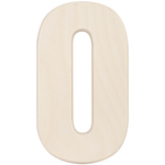 """O - Baltic Birch University Font Letters & Numbers 5.25"""""""