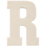 """R - Baltic Birch University Font Letters & Numbers 5.25"""""""