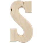 """S - Baltic Birch University Font Letters & Numbers 5.25"""""""