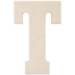 """T - Baltic Birch University Font Letters & Numbers 5.25"""""""