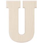 "U - Baltic Birch University Font Letters & Numbers 5.25"""