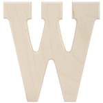 """W - Baltic Birch University Font Letters & Numbers 5.25"""""""