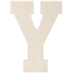 """Y - Baltic Birch University Font Letters & Numbers 5.25"""""""