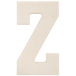 """Z - Baltic Birch University Font Letters & Numbers 5.25"""""""