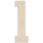 """1 - Baltic Birch University Font Letters & Numbers 5.25"""""""