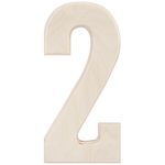"""2 - Baltic Birch University Font Letters & Numbers 5.25"""""""