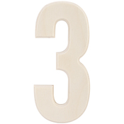 """3 - Baltic Birch University Font Letters & Numbers 5.25"""""""