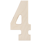 """4 - Baltic Birch University Font Letters & Numbers 5.25"""""""