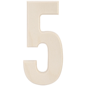"""5 - Baltic Birch University Font Letters & Numbers 5.25"""""""