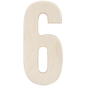 """6 - Baltic Birch University Font Letters & Numbers 5.25"""""""