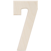 """7 - Baltic Birch University Font Letters & Numbers 5.25"""""""