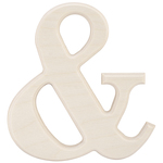 """& - Baltic Birch University Font Letters & Numbers 5.25"""""""