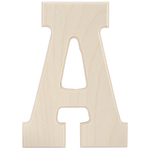 """A - Baltic Birch University Font Letters & Numbers 5.25"""""""