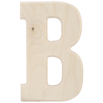"""B - Baltic Birch University Font Letters & Numbers 5.25"""""""