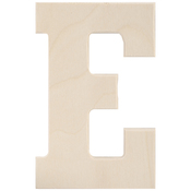 """E - Baltic Birch University Font Letters & Numbers 5.25"""""""