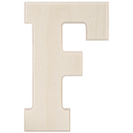 """F - Baltic Birch University Font Letters & Numbers 5.25"""""""