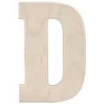 "D - Baltic Birch University Font Letters & Numbers 5.25"""