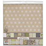 "9 Double-Sided & 3 Single-Sided - ScrapBerry's Photo Archive Paper Pack 12""X12"" 12/Pkg"