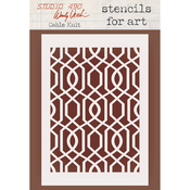 "Cable Knit - Wendy Vecchi Stencils For Art 6.5""X4.5"""