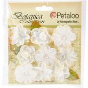 "White - Botanica Baby Blooms 1.25"" 9/Pkg"