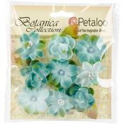 "Teal - Botanica Baby Blooms 1.25"" 9/Pkg"