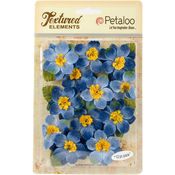 "Blue - Textured Elements Briar Rose Canvas 2"" 12/Pkg"