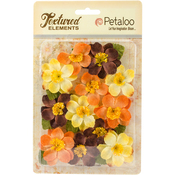 "Fall Mix - Textured Elements Briar Rose Canvas 2"" 12/Pkg"