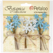 Blue/White - Botanica Glittered Snowflake Picks 3/Pkg