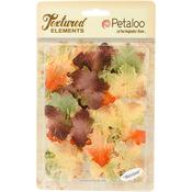 Fall Mix - Textured Elements Burlap Leaves 36/Pkg