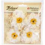 White - Botanica Ruffled Peony 4/Pkg