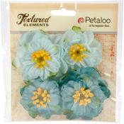 Teal - Botanica Ruffled Peony 4/Pkg