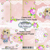 "Pink Flower Power - My Besties Single-Sided Paper 6""X6"" 8/Pkg"