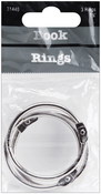 "Silver - Book Rings 1.5"" 3/Pkg"