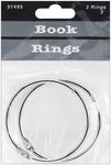 "Silver - Book Rings 2"" 2/Pkg"