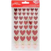 My Funny Valentine Glitter Heart Stickers - Pebbles