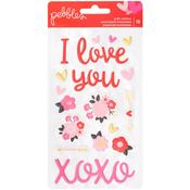 My Funny Valentine Puffy Phrase & Icon Stickers - Pebbles