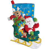 "18"" Long - Santa's Helper Stocking Felt Applique Kit"