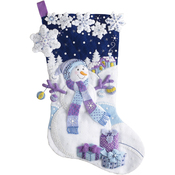 "18"" Long - Frosty Night Stocking Felt Applique Kit"