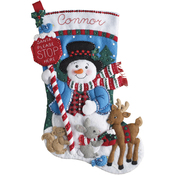 "18"" Long - Santa Stop Here Stocking Felt Applique Kit"