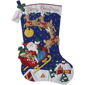 "28"" Long - Christmas Night Jumbo Stocking Felt Applique Kit"