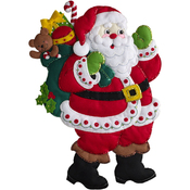 Here Comes Santa Wall Hanging Felt Applique Kit