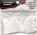 50/Pkg - Cardboard Floss Bobbins