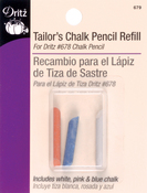 Blue, Pink & White - Tailor's Chalk Pencil Refill